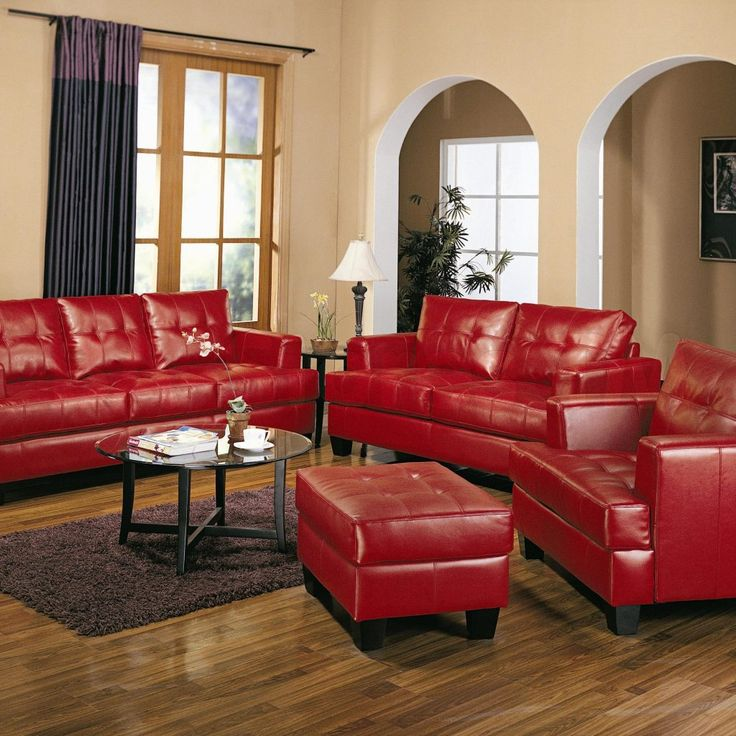 Red Leather Living Room Chair Part 27