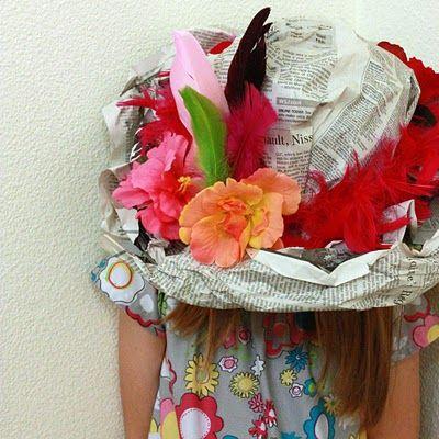 Sunday Paper Hat {Tea party hat}
