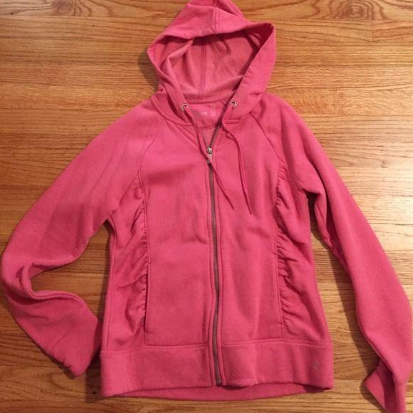 NWOT Danskin Coral/pink zip up hoodie. Size M. NWOT Danskin Coral/pink zip up hoodie. Size M. Danskin Tops Sweatshirts & Hoodies