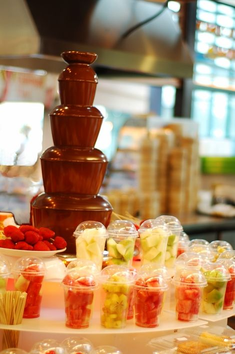 Genius idea for a Chocolate Fountain Set up