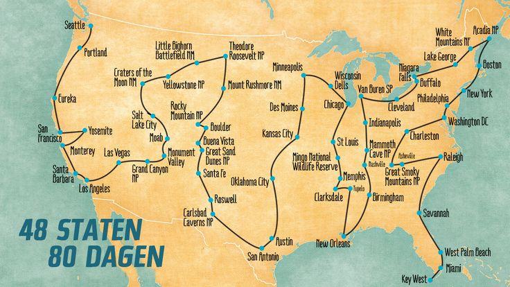 Er is maar een woord dat deze rondreis kan beschrijven: ONGELOOFLIJK! Trek op een indrukwekkende roadtrip door 48 van de 50 staten in Amerika.