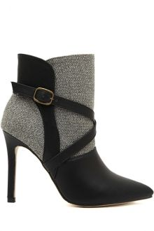 Love Love LOVE these Boots! Sexy Grey and Black Booties #Sexy #Grey #Black #Booties