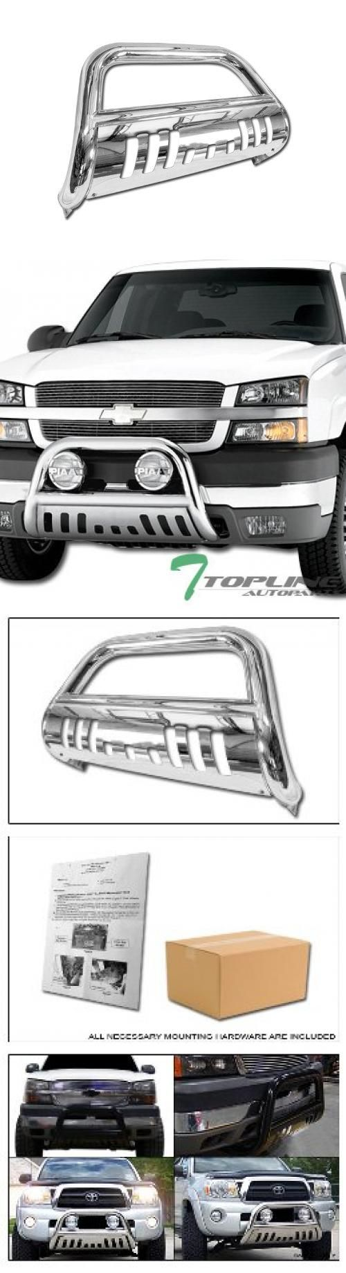 Stainless Bull Bar(Brush Push Bumper Grill Guard) Fits: 2001-2006 Chevy Silverado & GMC Sierra 1500 HD / 2500 HD / 3500 Model , 2007 Chevy Silverado & GMC Sierra 1500 HD / 2500 HD / 3500 Classic Model Only , 1999-2004 Chevy Silverado & GMC Sierra 2500 LD Model Only , 2002-2006 Chevy Avalanche 2500 ( With Or Without Cladding Models ) , 2000-2006 Chevy Suburban 2500 Model Only , 2000-2006 GMC Yukon ... #Topline_autopart #Automotive_Parts_and_Accessories