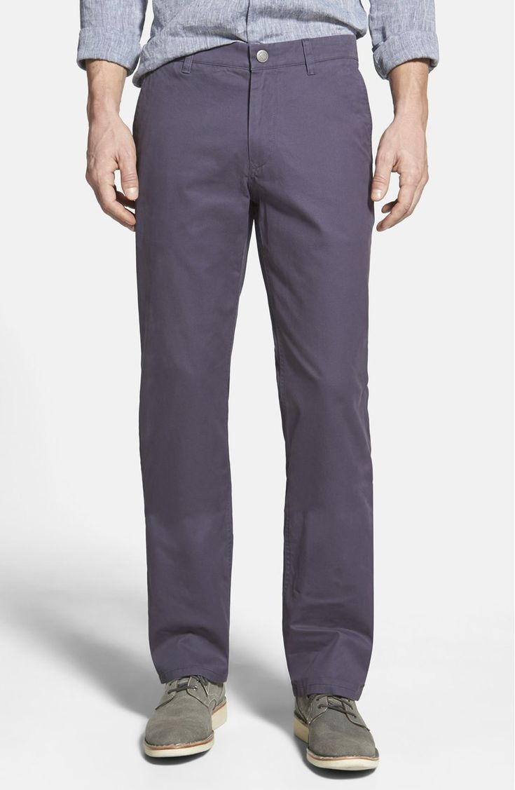 10 Mens Chinos on Trend This Fall. Chinos really aren't what they used to be. In slimmer fits, flat front options and a wide variety of colors and prints.