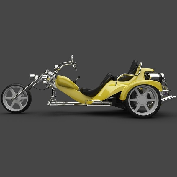 3d model trike motorcycle - Trike Motorcycle by 3d_molier