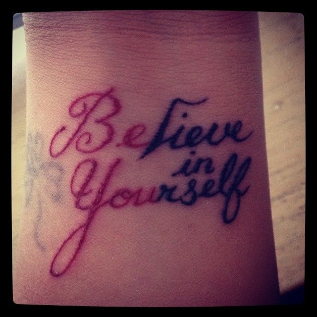 cool interesting titles about believing in yourself home believe in yourself wrist tattoo. Black Bedroom Furniture Sets. Home Design Ideas