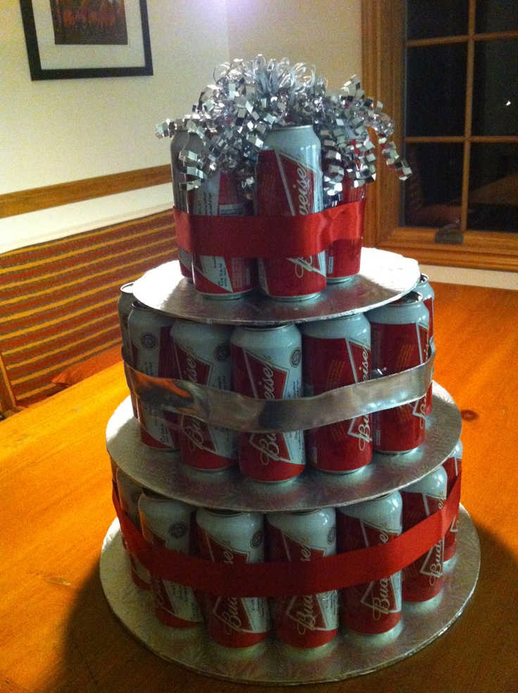 Budweiser Beer Can Cake! Colin's Birthday Cake | Tried It ...