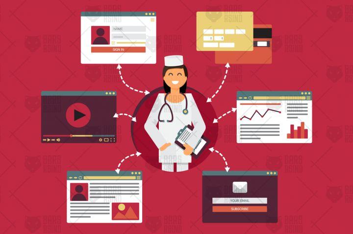Online Medicine Concept By Barsrsind Shop
