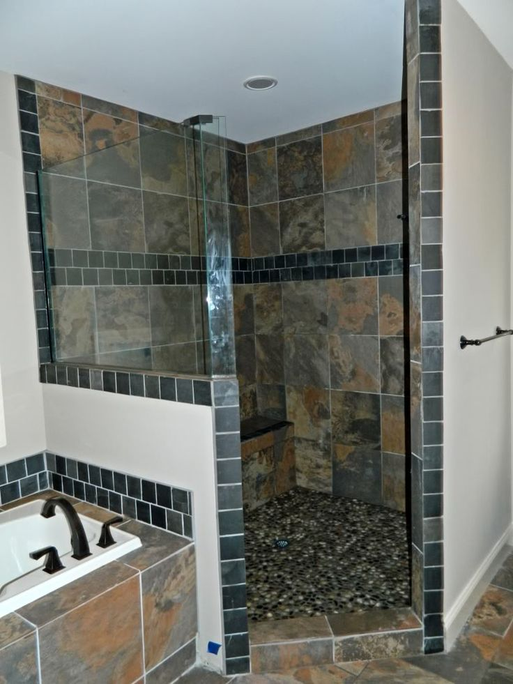 slate shower on pinterest slate bathroom slate shower tile and bath