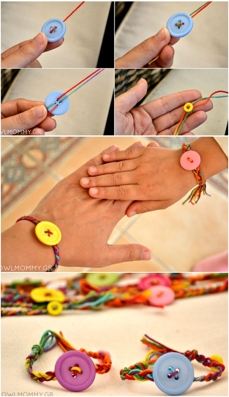 friendship bracelets with buttons for lalaloopsy party