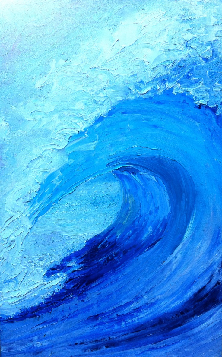 North Shore Wave Impressionism Painting Art Painting