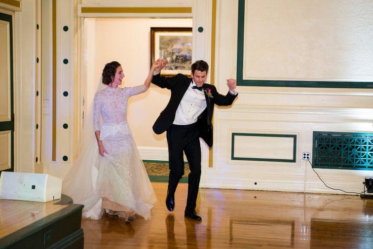 Elaina & Brian | Soldiers & Sailors Museum| Grand Ballroom | Pittsburgh Wedding | Fall Wedding | October Wedding | Rania's Catering | Goldstein Photography | Grey Phoenix Lighting | Bride & Groom | Grand Entrance