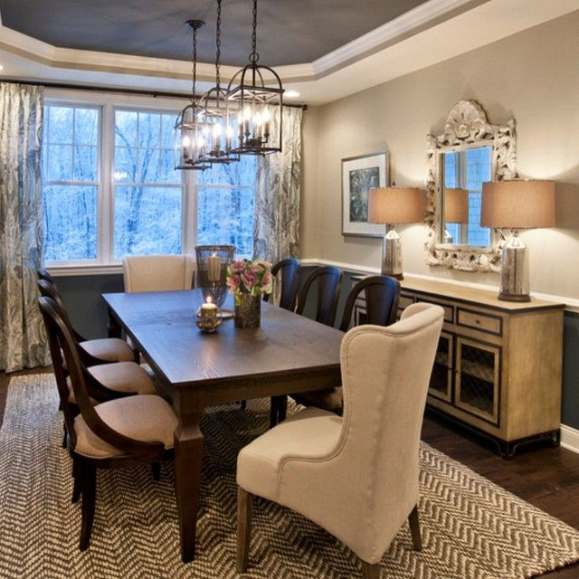 An Elegant And Welcoming Dining Room From Interior Designer The Jute Hand  Woven Reed Rug From Surya Brings Warmth And Textural Interest To This  Neutral ...