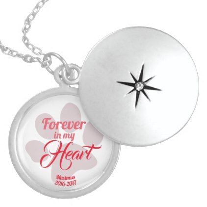 Forever in my Heart In Memory of Lost Pet Sterling Silver Necklace - love gifts cyo personalize diy