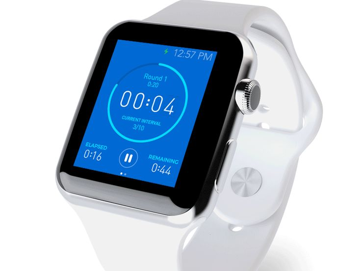 Apple Watch interval trainer by Virgil Pana—The Best iPhone Mockups → store.ramotion.com