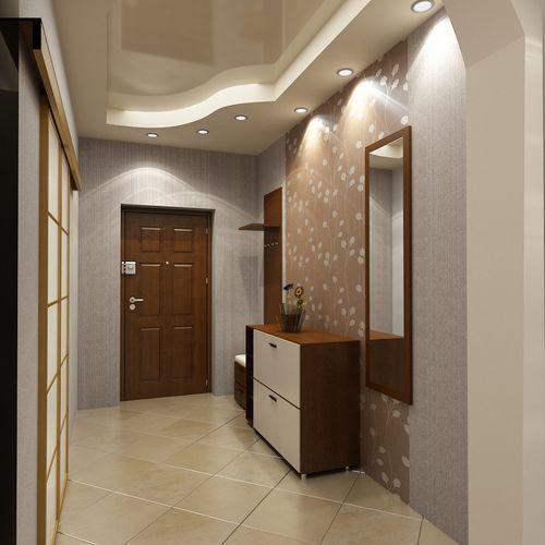 Дизайн потолка в коридоре + фото: потолки из гипсокартона и натяжные