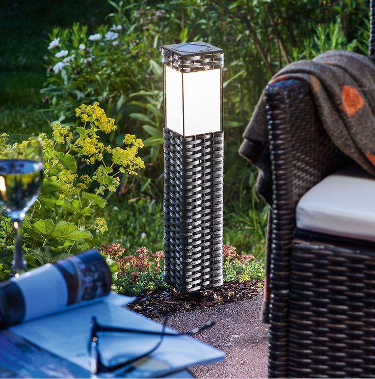 Lámpara solar Ratan para jardín