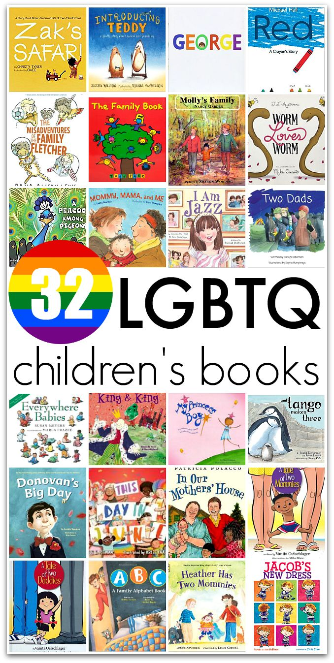 Book list of LGBTQ positive books for kids