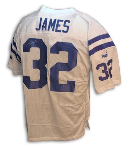 Autographed Edgerrin James Indianapolis Colts Authentic NFL Puma White Jersey