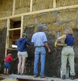 3 substances — clay, lime, and gypsum — are the basic materials known as natural plasters; these stand in contrast to cement-based stuccos, more modern/industrialized. In straw bale or other insulative wall systems, plaster is often the air barrier for for the wall, keeping the wind from whistling in. Plaster is used as front-line defense for moisture intrusion into the structure, and is employed to help control moisture within wall assemblies. Plaster also protects walls from wear and…
