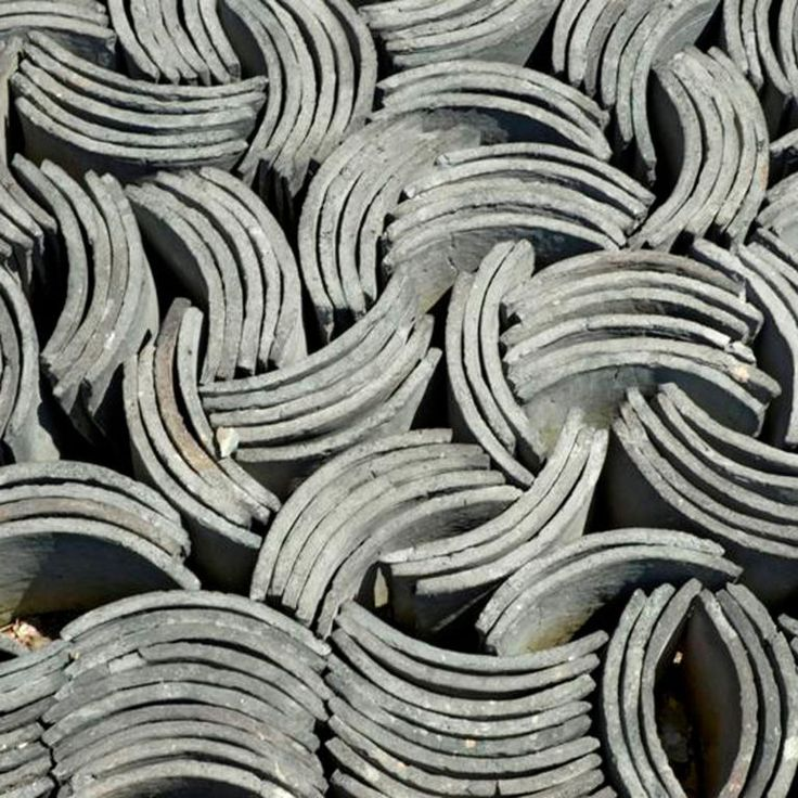 Vintage Chinese Roof Tiles