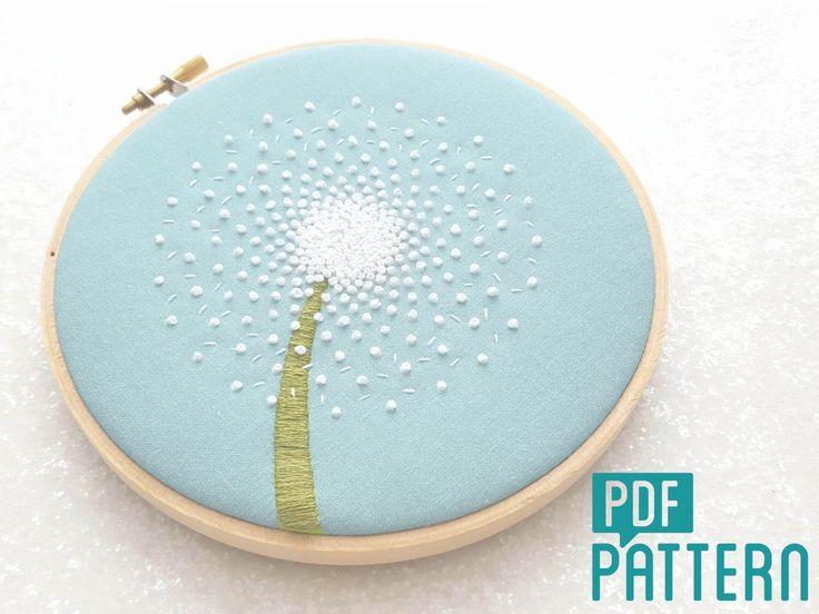 Flower Hand Embroidery Designs Free Download: 25+ Best Ideas About Dandelion Clock On Pinterest