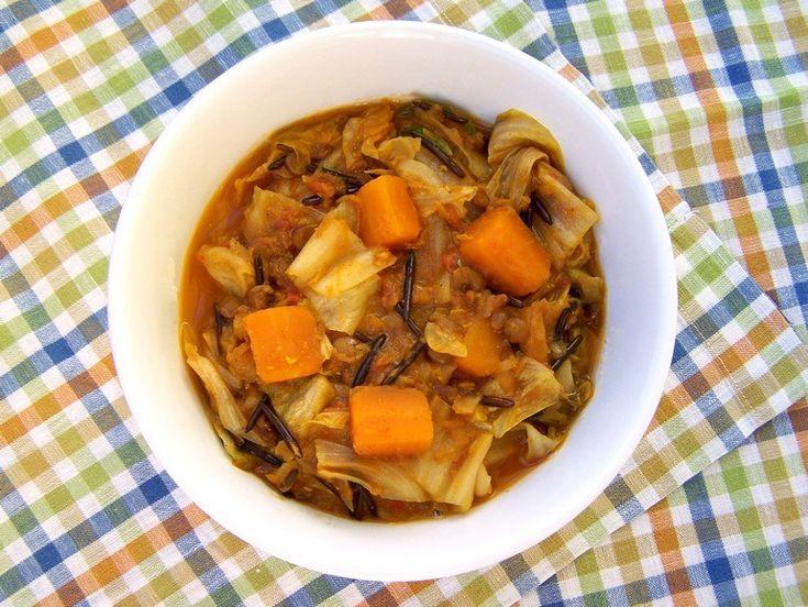 Linzencurry met bladgroente - Vegetus; veganistisch budgetvriendelijk