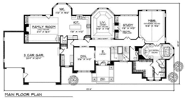 Groovy Plan 89480Ah Shallow Lot Pleaser House Plans 3 Car Garage And Cars Inspirational Interior Design Netriciaus
