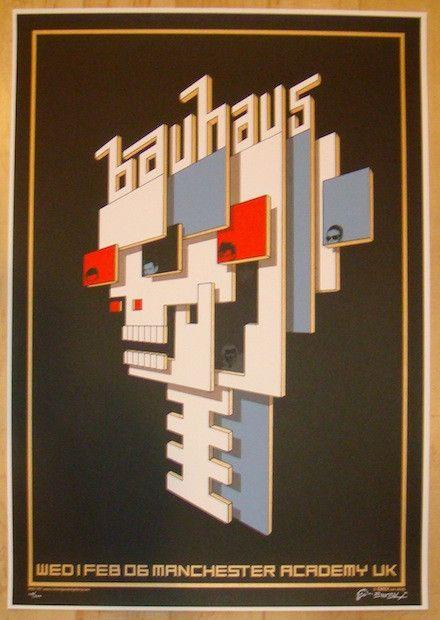 2006 Bauhaus - Manchester Silkscreen Concert Poster by Emek