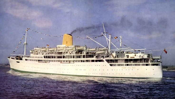 The career of the attractive liner Reina Del Mar was cut short by the oil crisis of the 1970s.  The 1955-built liner, originally with Pacific Steam Navigation Line, was scrapped in 1975, when she was barely twenty years old.