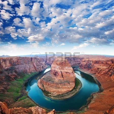 herradura: Horse Shoe curva, North Rim Grand Canyon Page, Arizona, EE.UU.
