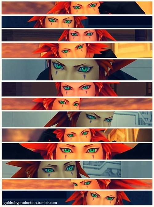 Axel/Lea Kingdom Hearts. I needed this post, I have such an obsession with his stunning eyes....