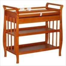 """Baby Changing Table with Drawer in Pecan Finish by AFG. $144.54. Baby Furniture. Some assembly may be required. Please see product details.. Baby Furniture->Changing Tables. Baby Changing Table with Drawer in Pecan Finish. Dimension: 19""""W x 39""""L x 38""""H Finish: Pecan Material: Solid Hardwood Baby Changing Table with Drawer in Pecan Finish Features a hidden drawer and two shelves for additional storage space. Made of solid hardwood with a beautiful non-toxic, easy care finish. Int..."""