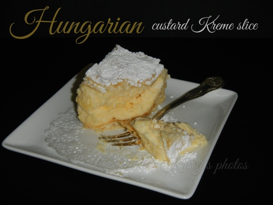 Hungarian custard kreme slice