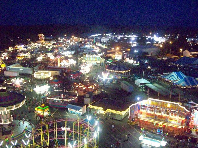 Erie County Fair: Midway at Night I by Jaquandor, via Flickr