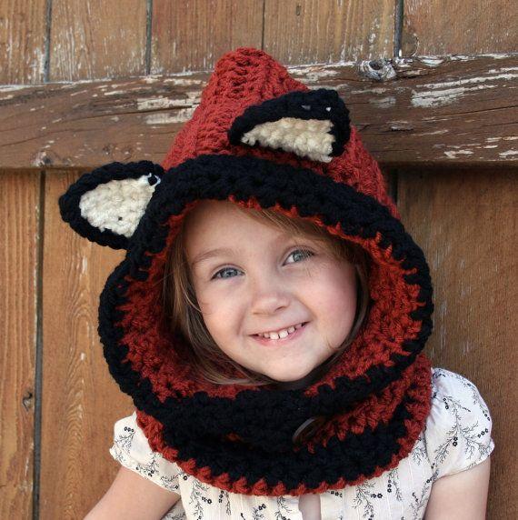 Bébé à capuche adulte et capot Fox Hood hiver par DSDesignsHandmade, $27.00
