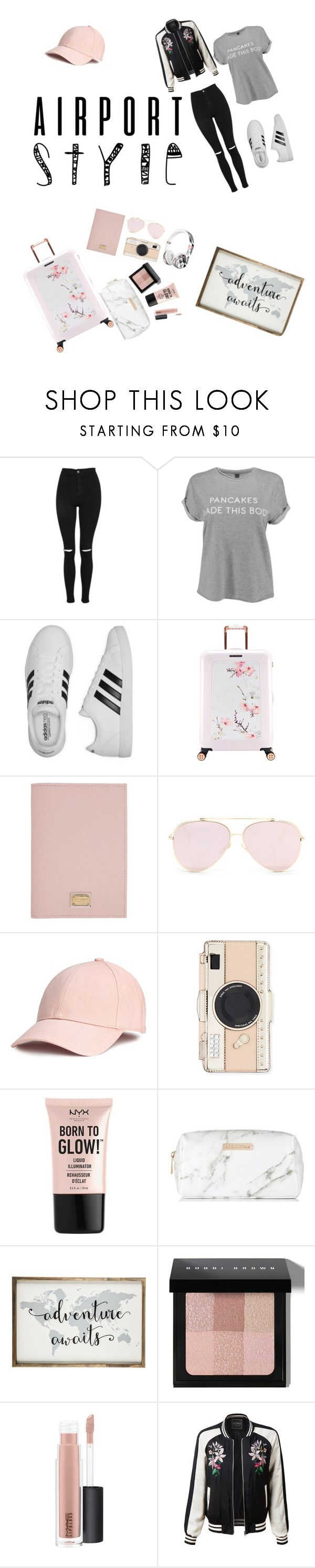 """Untitled #32"" by valeriewong1234 ❤ liked on Polyvore featuring Topshop, adidas, Ted Baker, Dolce&Gabbana, Beats by Dr. Dre, Kate Spade, NYX, Spectrum, Bobbi Brown Cosmetics and MAC Cosmetics"