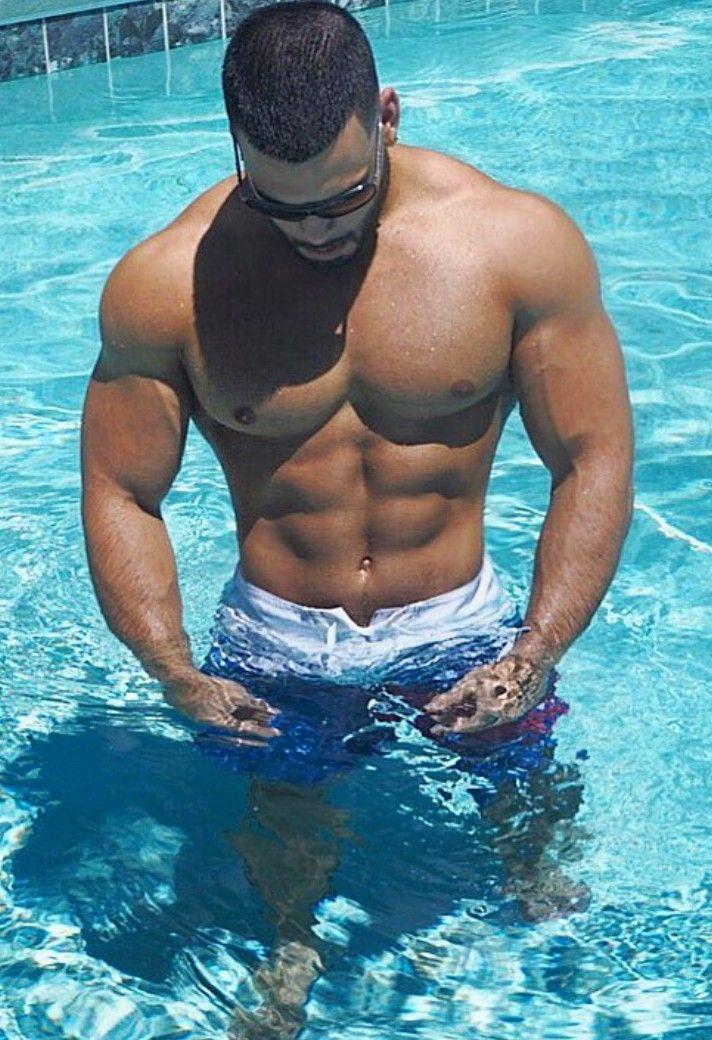 Cute muscular guys leisure