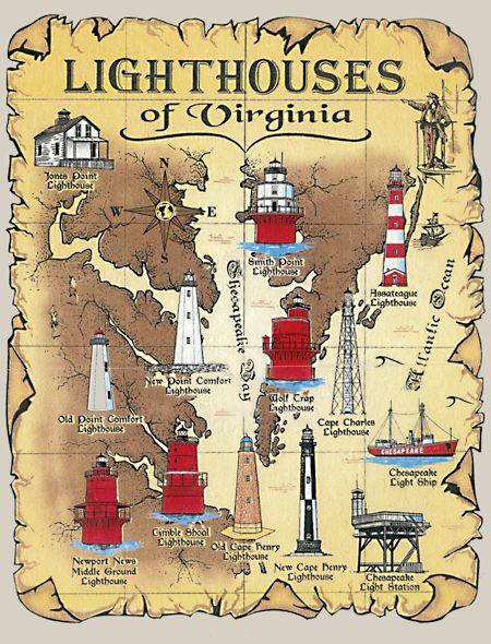 virginia lighthouses | ThisT-Shirt features the thirteen lighthouses of Virginia