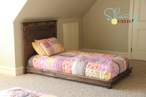 How to build a platform bed for $30. Inspired by Pottery Barn Kids Fillmore Platform Bed
