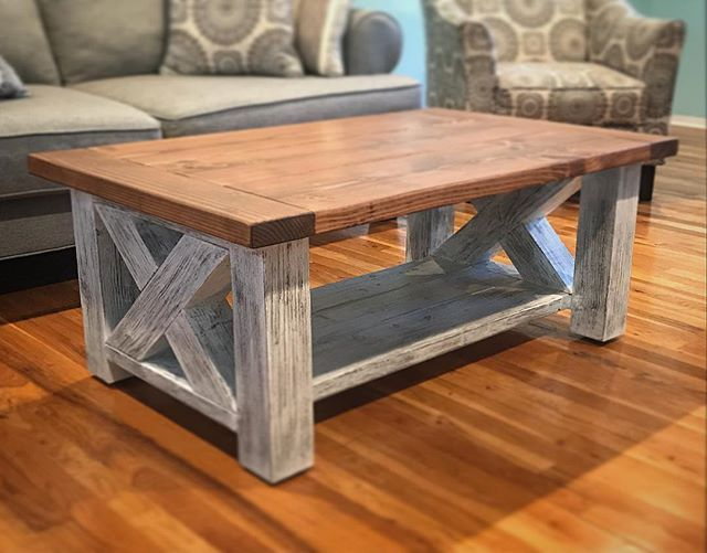 Triple Truss Coffee Table With Wheels Coffee Table With Wheels Reclaimed Coffee Table Diy Coffee Table