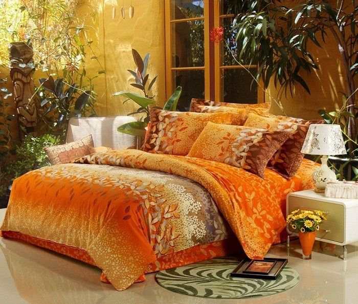 High quality king&queen size orange bedding set luxury for 2012 autumn&winter, Suitable for bed size:1.5m*2m, 1.8m*2m, 2*2.2m
