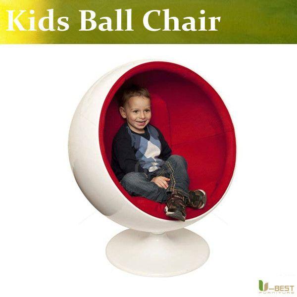 Kids bal stoel, klassiek glasvezel bal stoel
