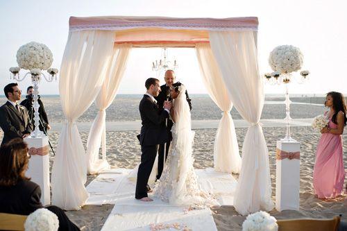romantic santa monica beach wedding at casa del mar wedding beach ceremony and beaches