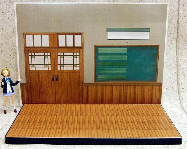 Created by Japanese designer Chikyuza , this Japanese Classroom stand paper model  In  1/12 scale  is very simple to build  and is perfect...
