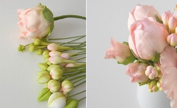 peony buds by Petal Sweet — Sugar Flower Bouquets. All kinds of tutorials for gumpaste flowers. Use this site
