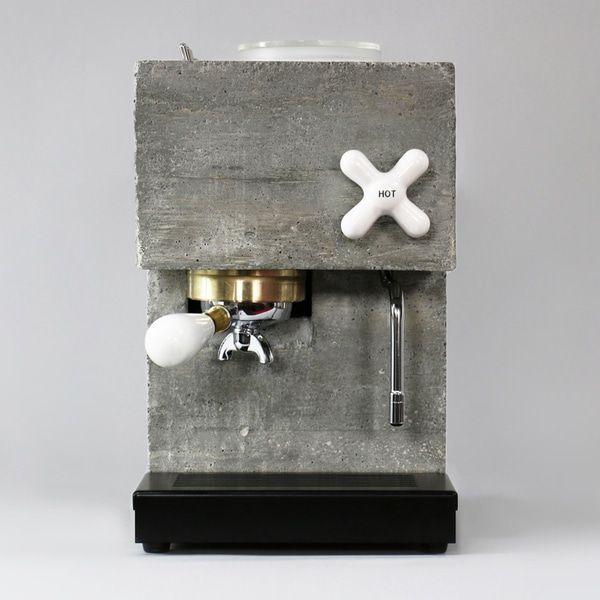 New Espresso Machine Designed to Look Like a Concrete Work of Art