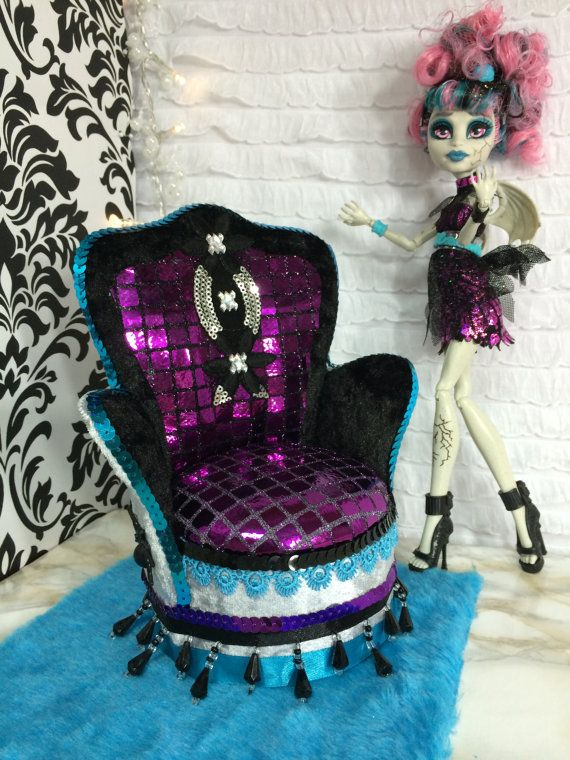 Items Similar To Furniture For Dolls Monster High Barbie Couch Bed On Etsy