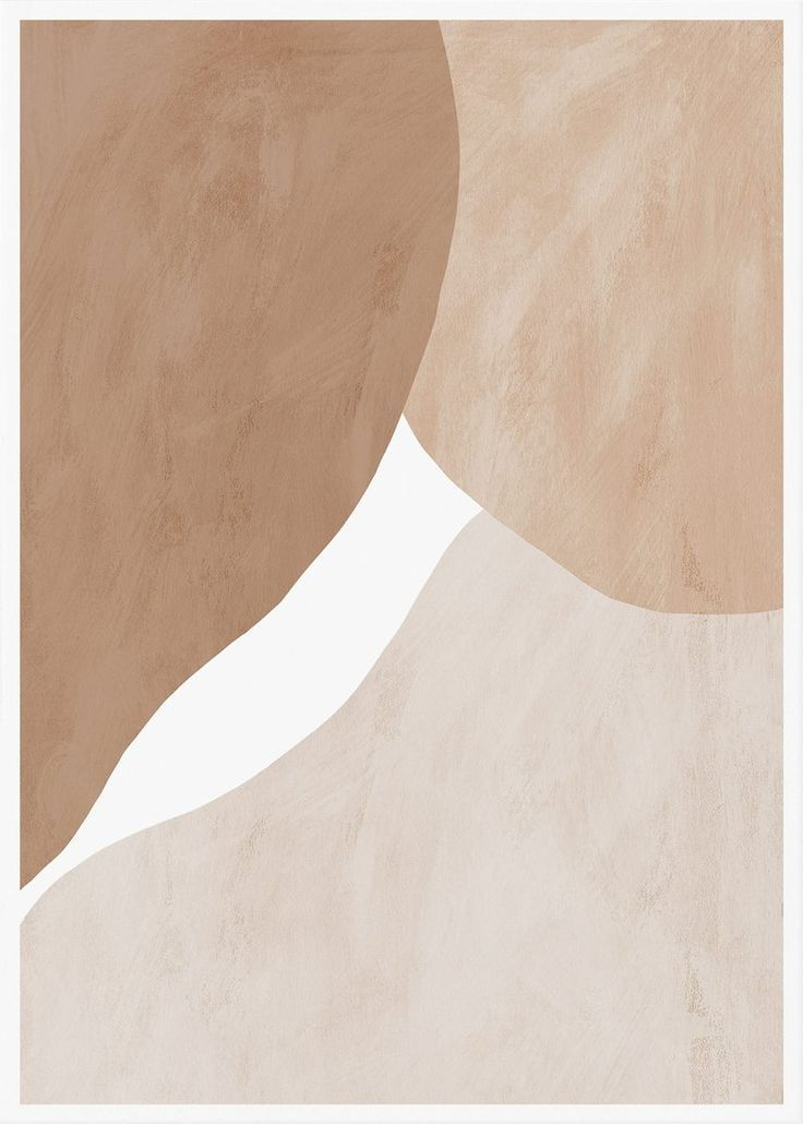 Pale Beige And Brown Figures Abstract Print Abstract Wall Art Abstract Wall Art Beige Wallpaper Abstract
