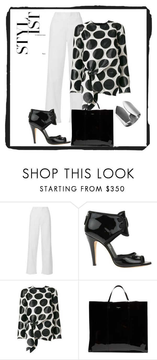 """""""Black and White Outfit"""" by marilynarcher on Polyvore featuring Philosophy di Lorenzo Serafini, Chanel, Marques'Almeida and Balenciaga"""